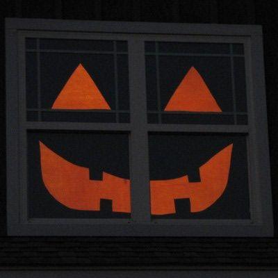 Halloween Window Decoration Boo!! Halloween Ideas and Vintage