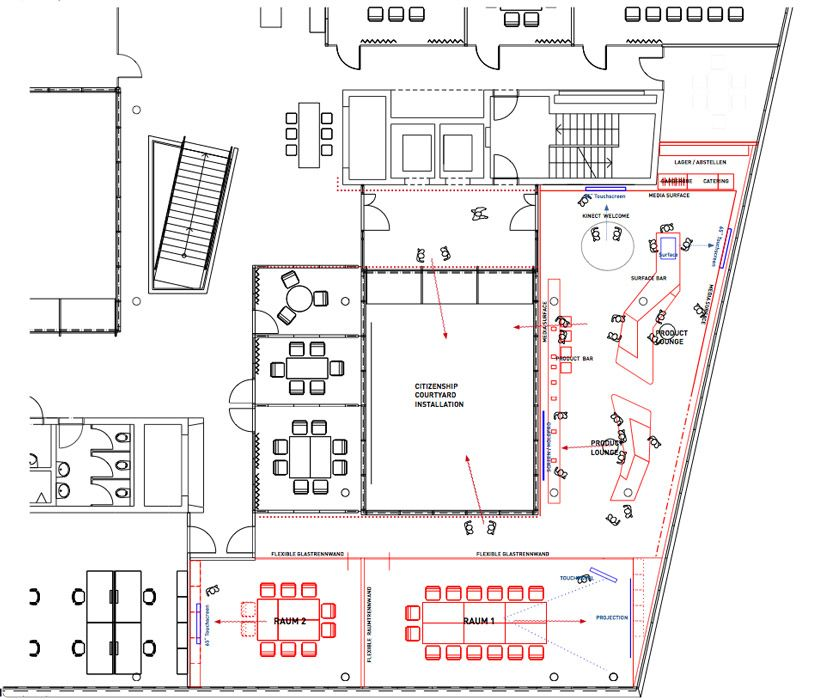 Coast office architecture microsoft briefing center for Plantation desk plans