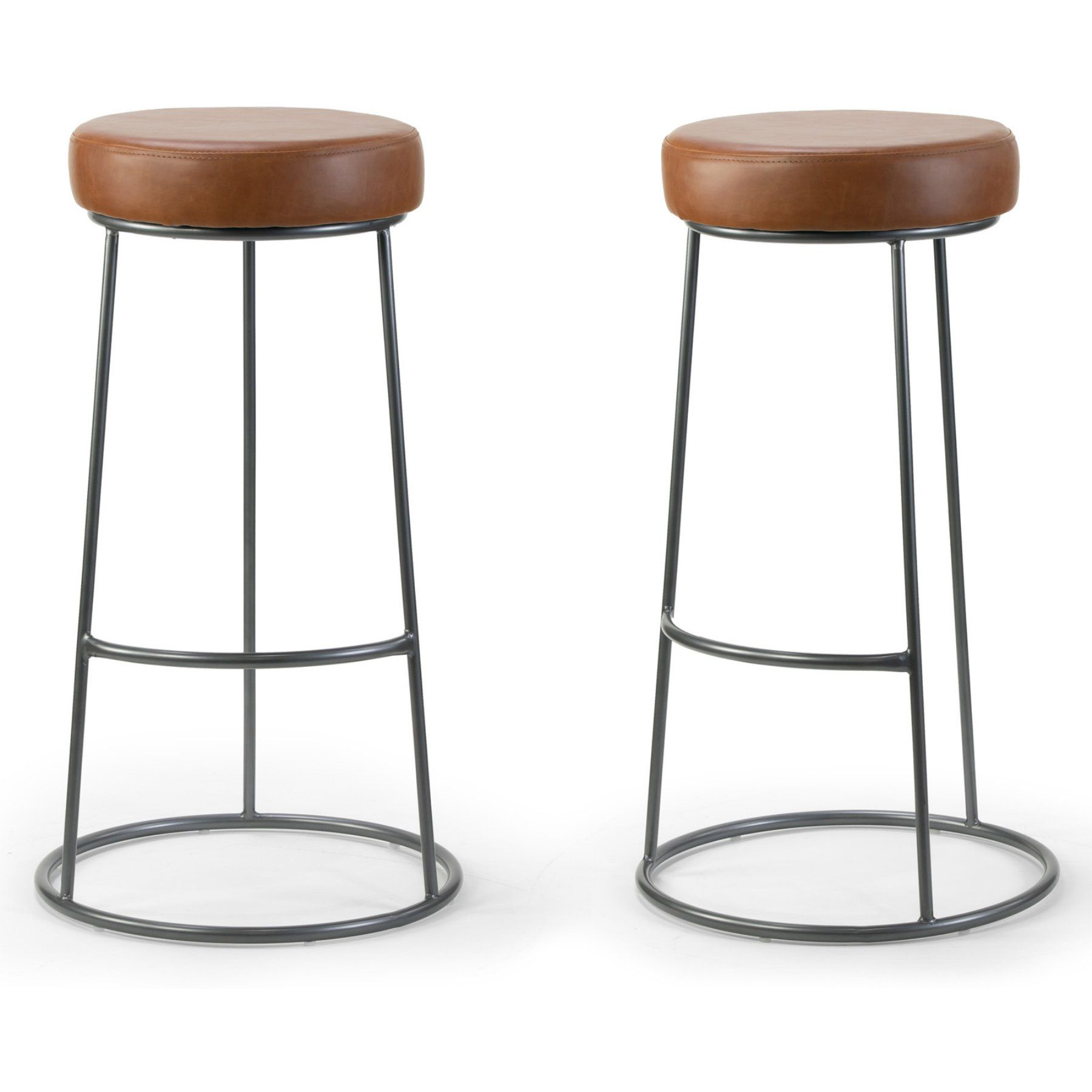 Glamour Home Amie 30 25 In Backless Bar Stool Set Of 2 Backless Bar Stools Bar Stools Counter Stools