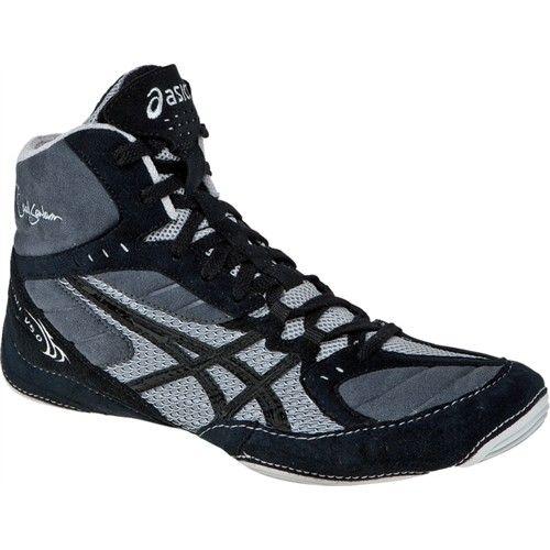 f75d84348b14 Asics Cael V5.0 Mens Wrestling Shoes J202Y.9090 Black-Silver