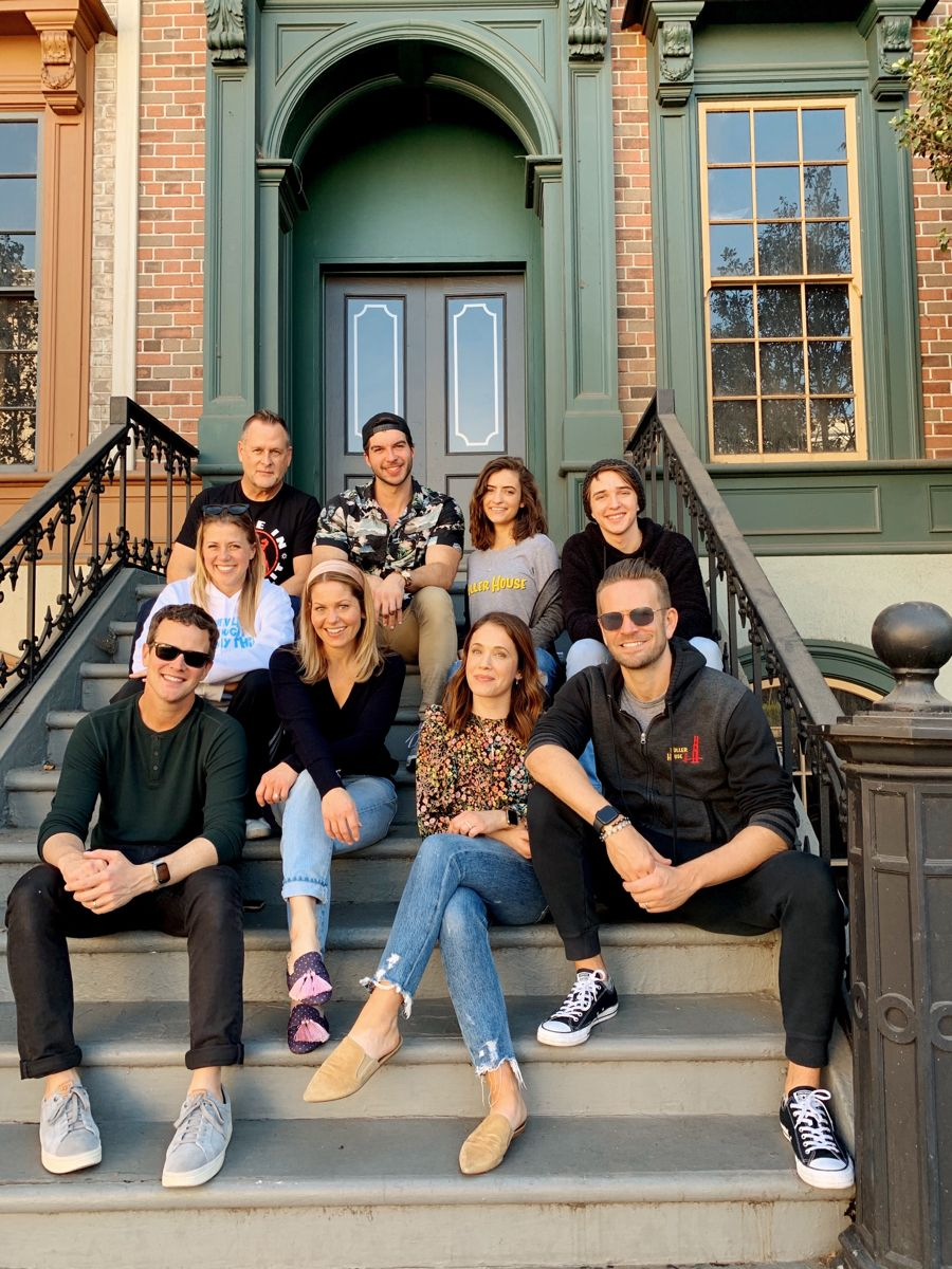 My Fuller Family filling the Warner Bros steps in 2020
