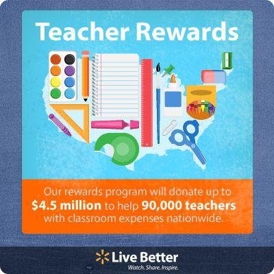 Teachers Rock!  #backtoschool with #Walmart  #WalmartGreen