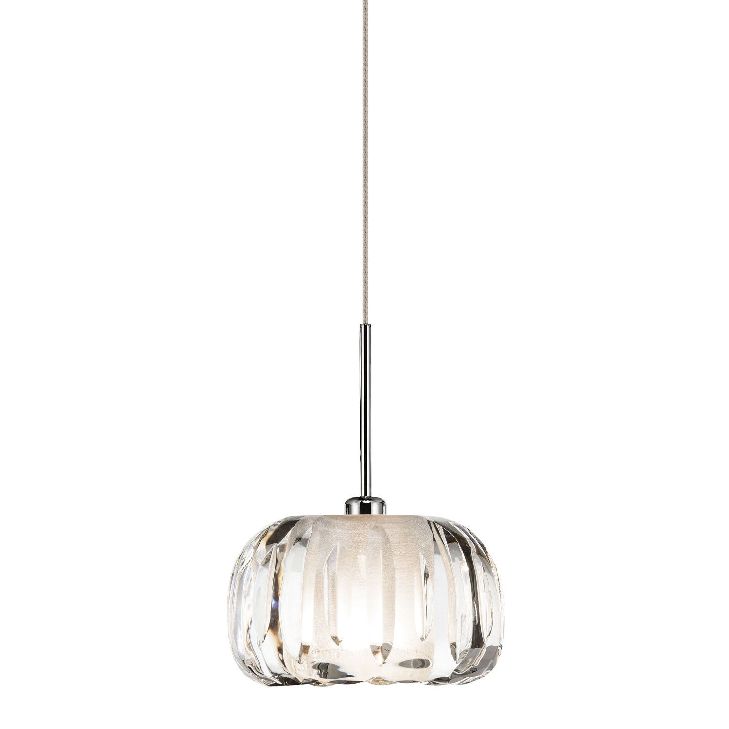 Elan Zucca Chrome e Light Mini Pendant