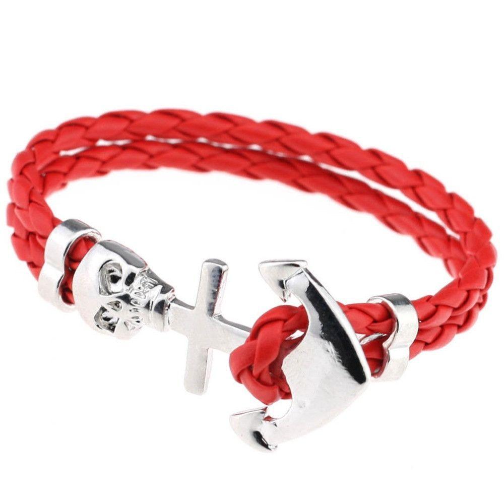 Punk wrap skull bracelet red products pinterest skull