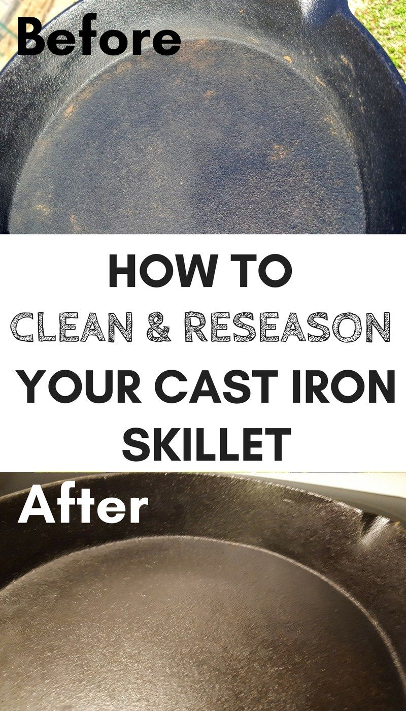 how to reseason a cast iron skillet in 3 easy steps the homestead kitchen cleaning cast iron. Black Bedroom Furniture Sets. Home Design Ideas
