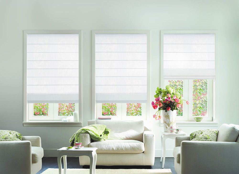 suitable roman blinds for minimalist room | Living Room | Pinterest ...