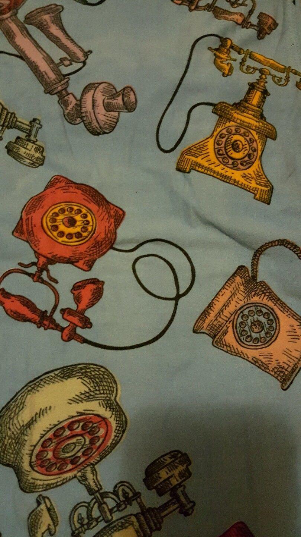 Lularoe Tc Leggings Old Vintage Phones Telephones New Rare Blue