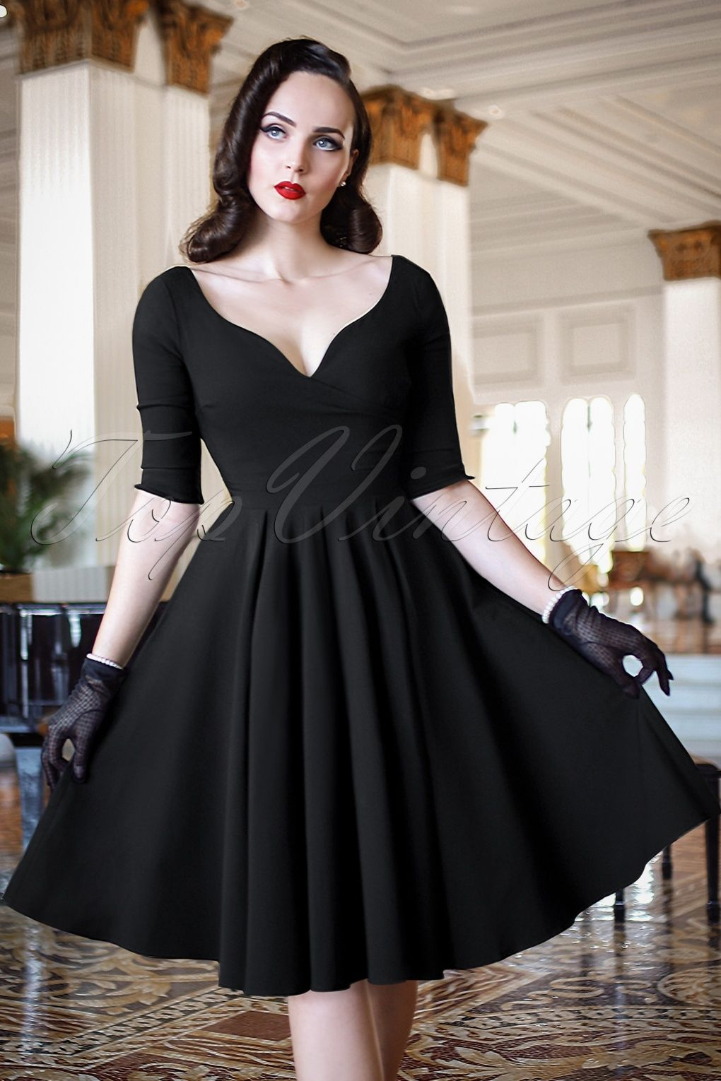 Vintage Evening Dresses And Gowns 1920s To 1960s Evening Dresses Vintage Swing Dress Black Swing Dress [ 1530 x 1020 Pixel ]
