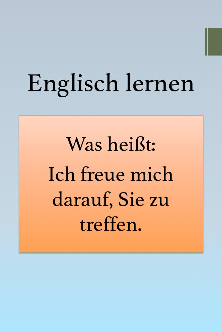 Vertreten Englisch