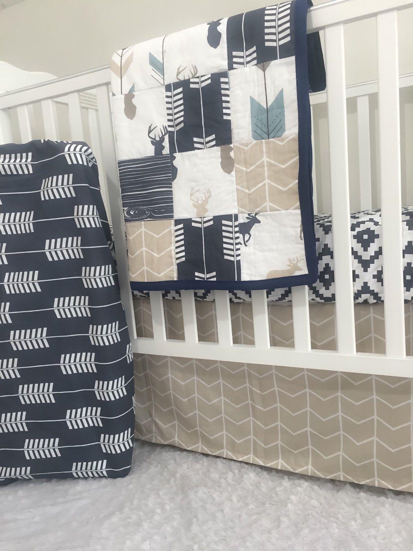 little oasis rustic woodland deer crib bedding. choose: crib sheet