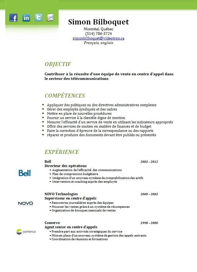 modele cv quebec modele cv quebec | C.V | Pinterest | Quebec and Seo modele cv quebec