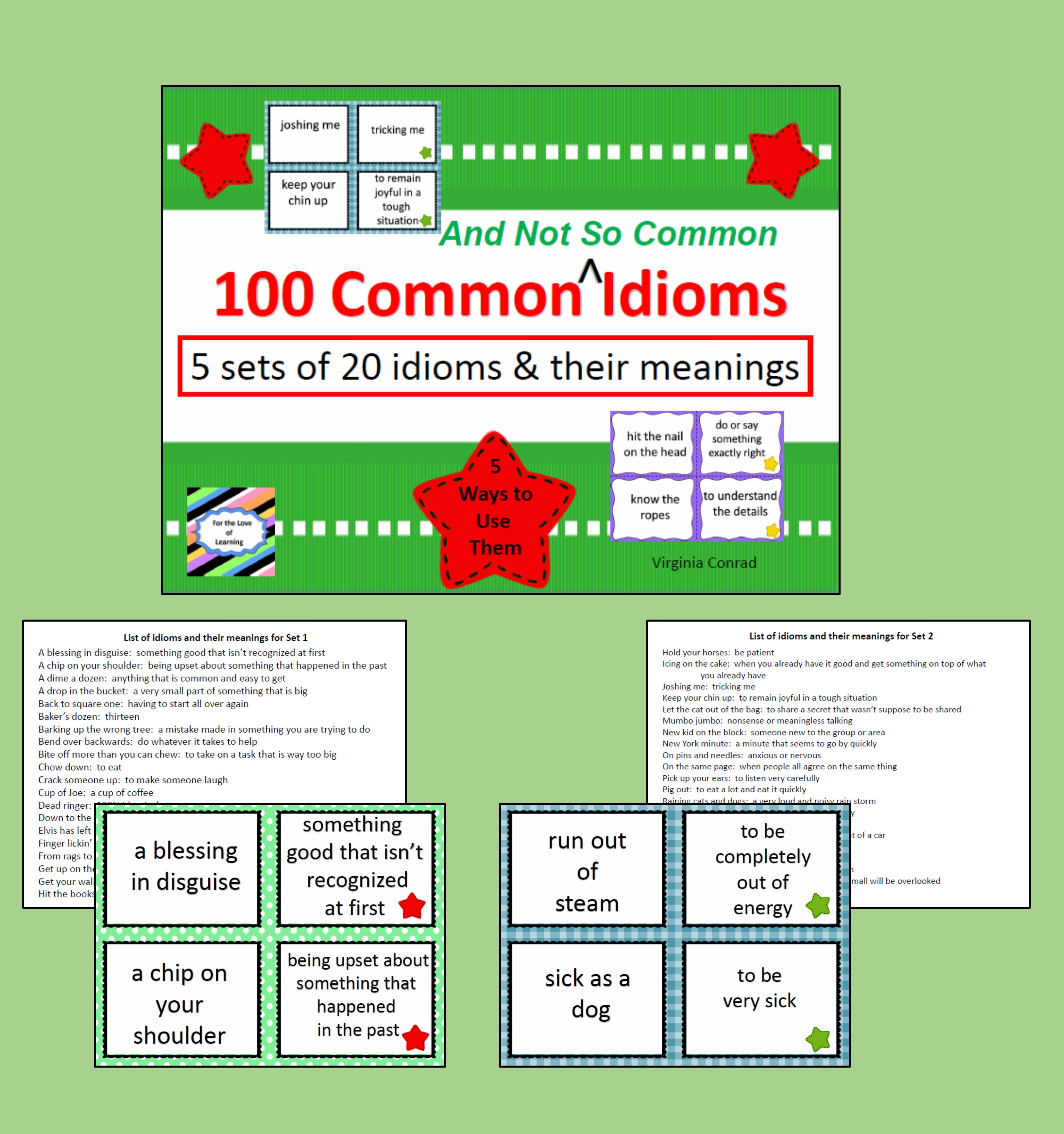 Idioms | Reading/Language Boosters Galore | Pinterest
