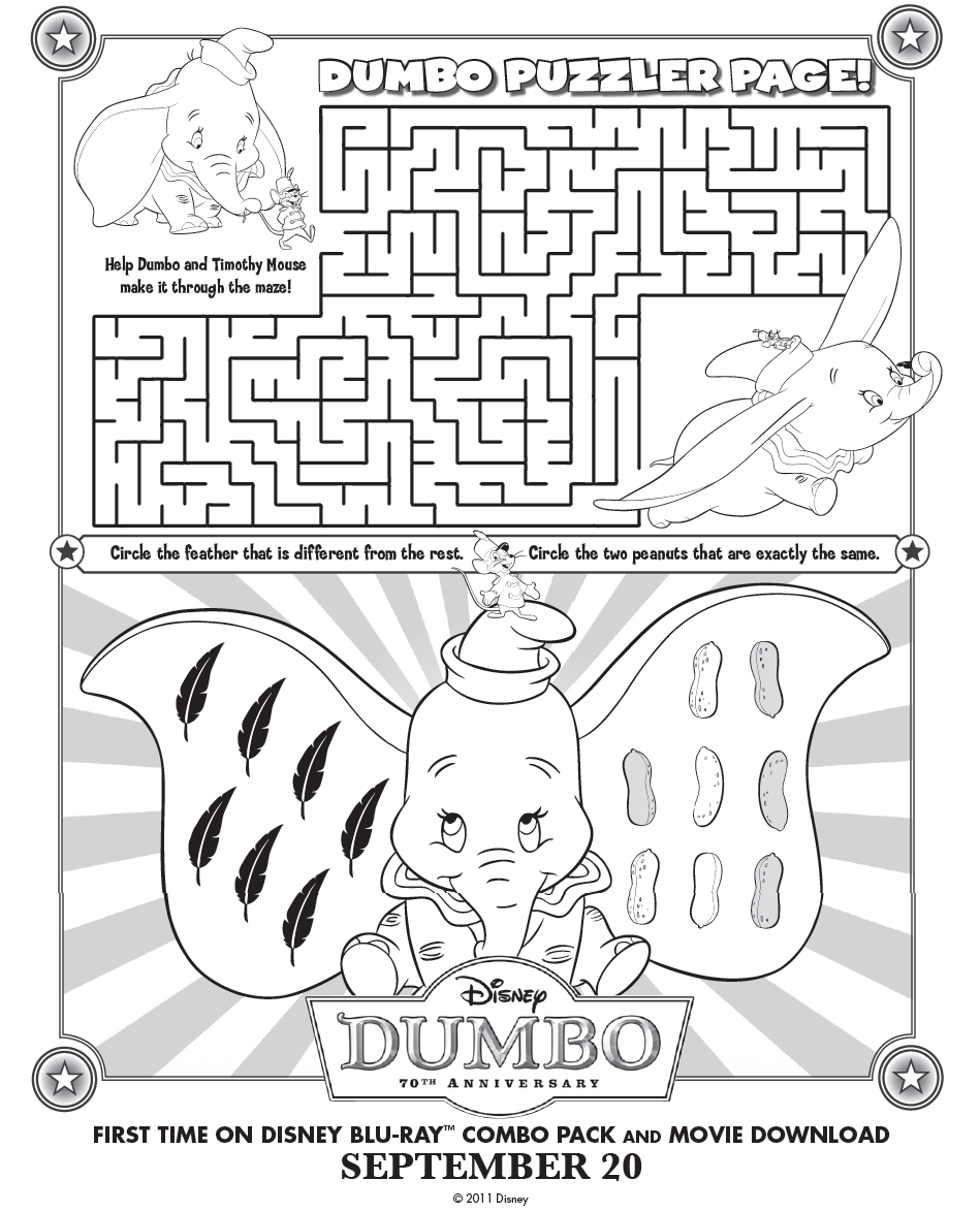 Http Classymommy Com Free Dumbo Printable Games And Activity