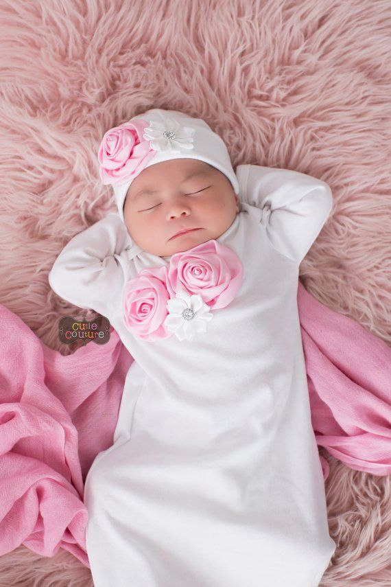 BOUTIQUE STYLE-Take Me Home-Newborn Gown-Baby Girl Layette Set-Photo Prop-Baby  Girl Outfit-Newborn G 6668aed91