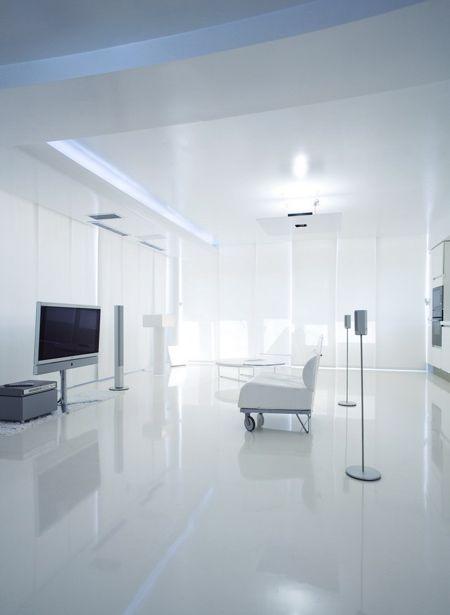 Inspiration déco appartement design tout blanc