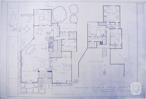 """The Brady Bunch"" House Floorplan SB"