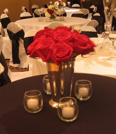 Photo via white centerpiece centerpieces and real couples - Red and silver centerpiece ideas ...