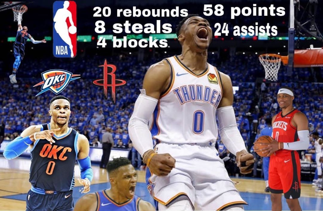 Had to redoit on Westbrook 💯......... is Westbrook a top ten point guard of all time?🏀💯 . . . .   #c...