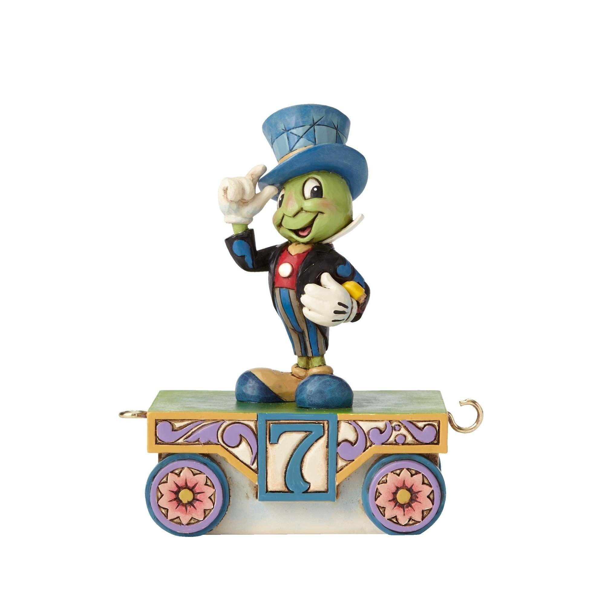 Jim Shore Disney Traditions Birthday Train Number 7 Jiminy Cricket Disney Traditions Jiminy Cricket Disney Figurines