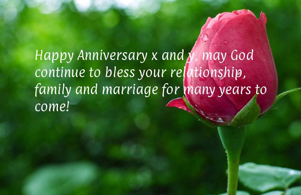 Happy anniversary and y may god continue to bless your