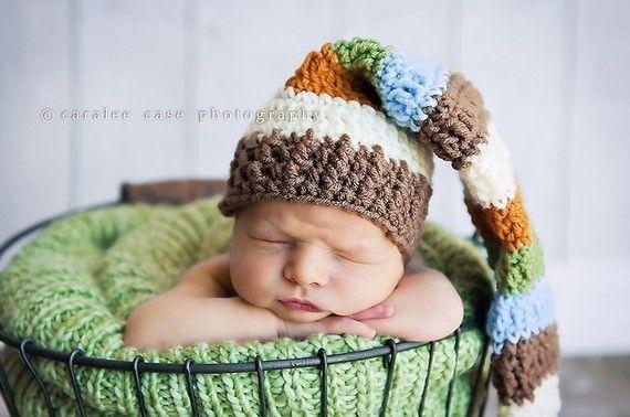 Multicolored Elf Hat by craftnikki on Etsy, $30.00