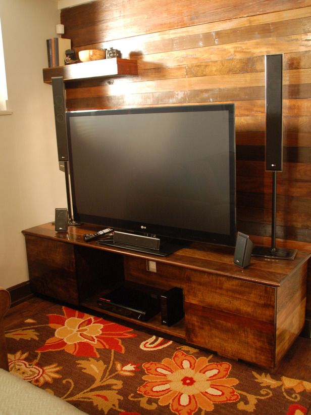 Comfy TV-Watching Spaces and Entertainment Centers : Home Improvement : DIY Network