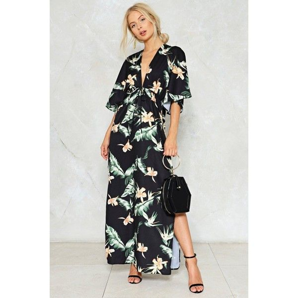 bc18aab7e6 Nasty Gal Never Can Say Goodbye Floral Dress (€44) ❤ liked on Polyvore  featuring dresses