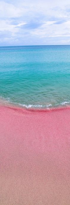 The sandy pink beaches of Bahamas