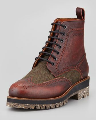 Brown Leather Boots by DSquared. Buy for $895 from Neiman Marcus