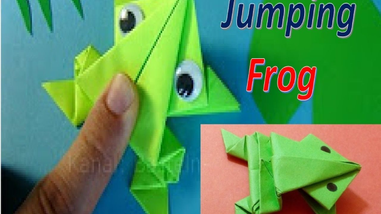 How to make a paper frog that jumps high and far origami jumping how to make a paper frog that jumps high and far origami jumping frog jeuxipadfo Image collections