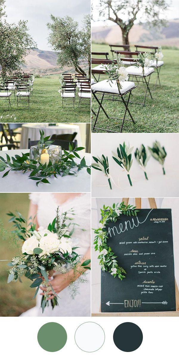 Simple Wedding Ideas.Easy Diy Greenery Minimalism Wedding Ideas With Color Combos