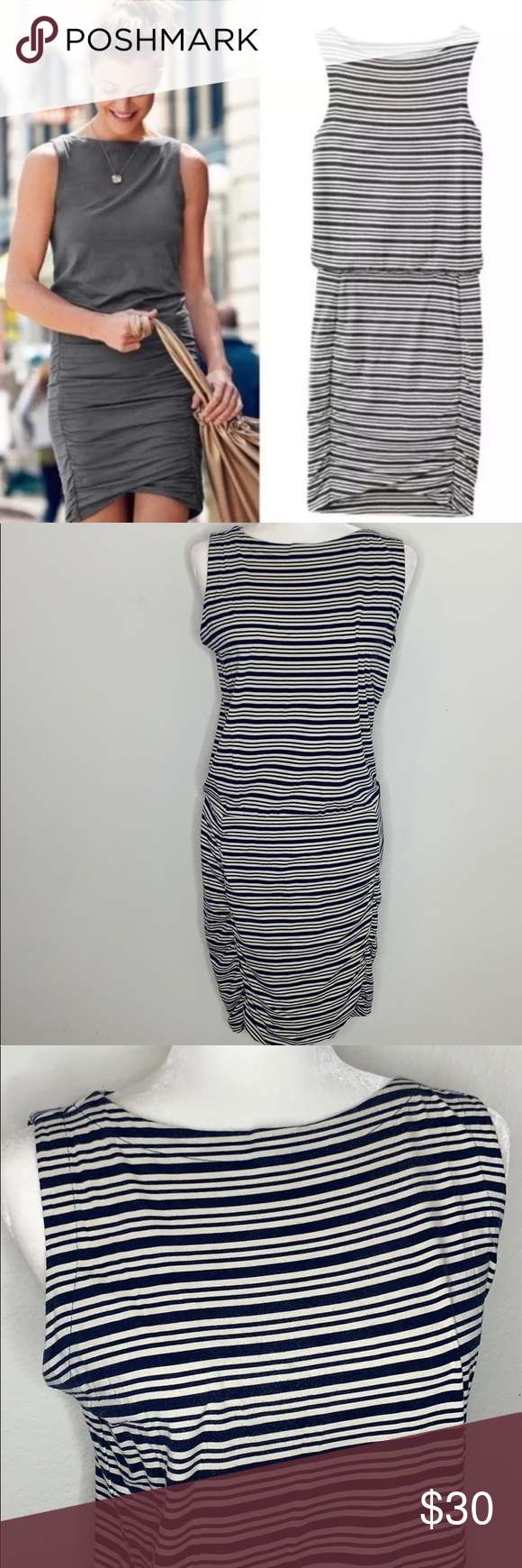 Athleta Tulip Striped Dress Excellent Used Condition Athleta Tulip Dress In Navy And White Striped Pattern Lots Of S Striped Dress Tulip Dress Clothes Design [ 1740 x 580 Pixel ]
