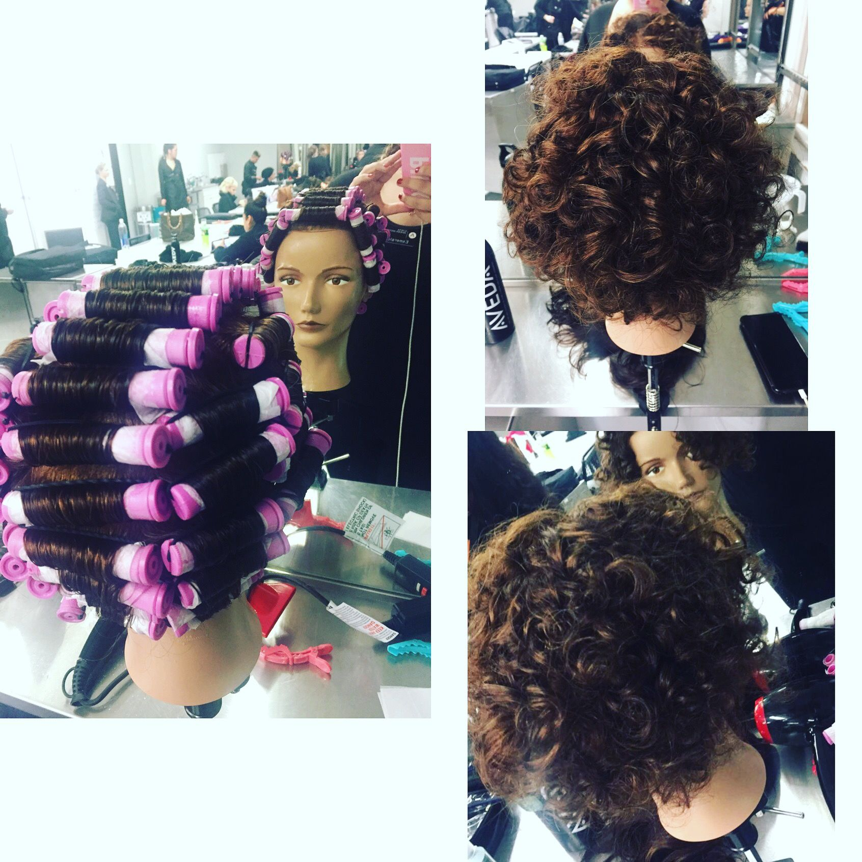 Straight To Curly Perm Set