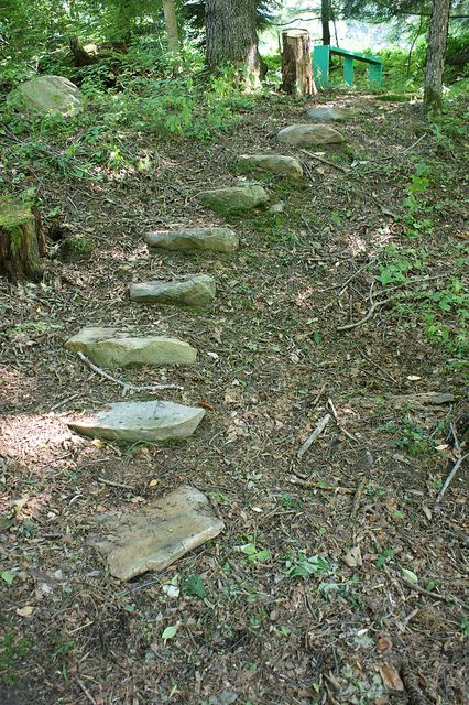 Stepping Stones Up The Hillside With