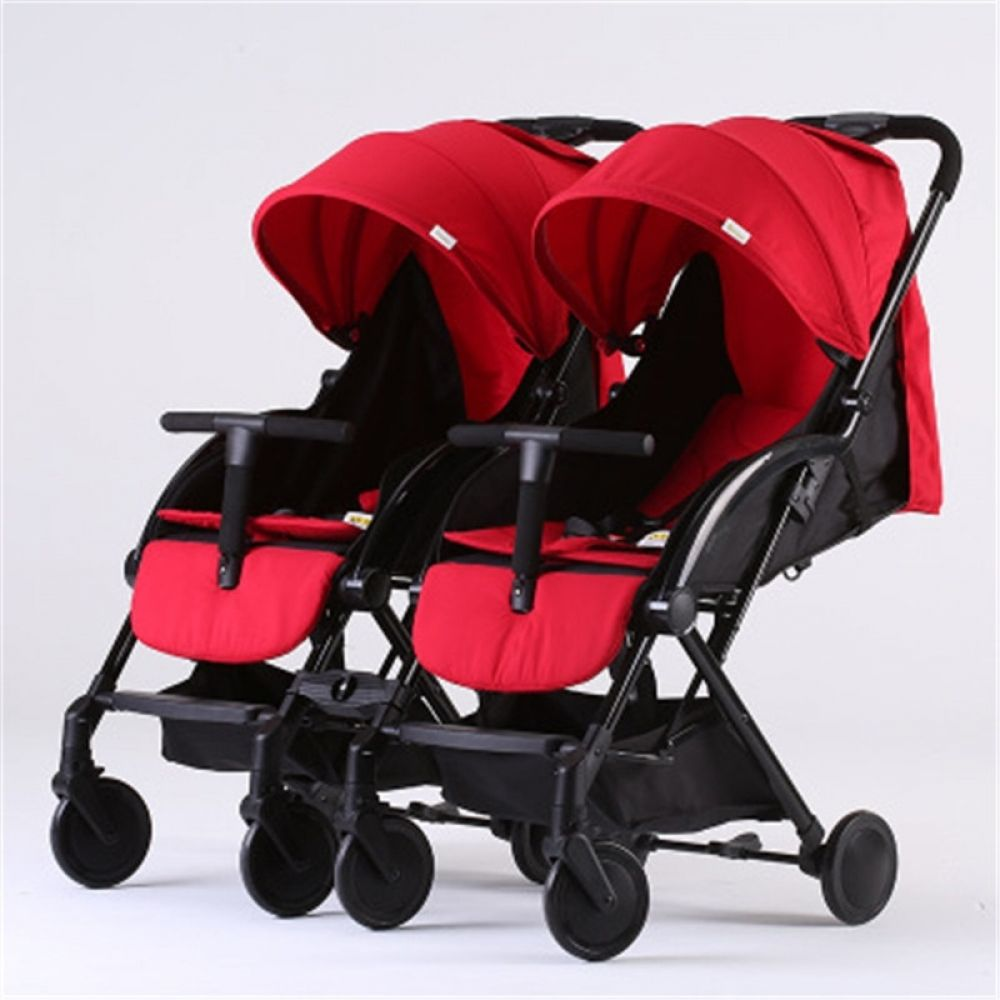 2018 detachable twins trolley twins baby stroller sitting