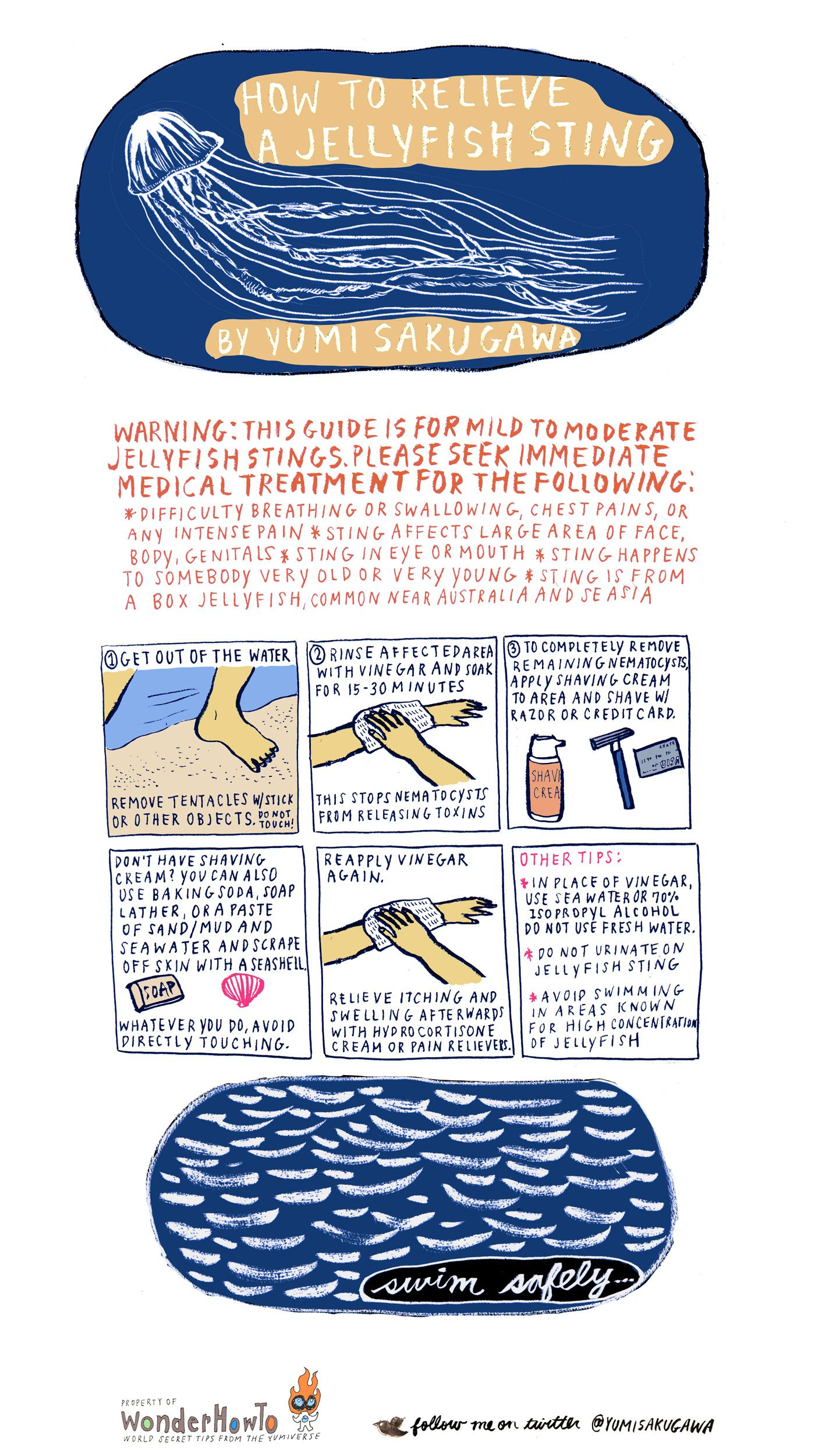 How To Relieve A Jellyfish Sting Jellyfish Sting Jellyfish
