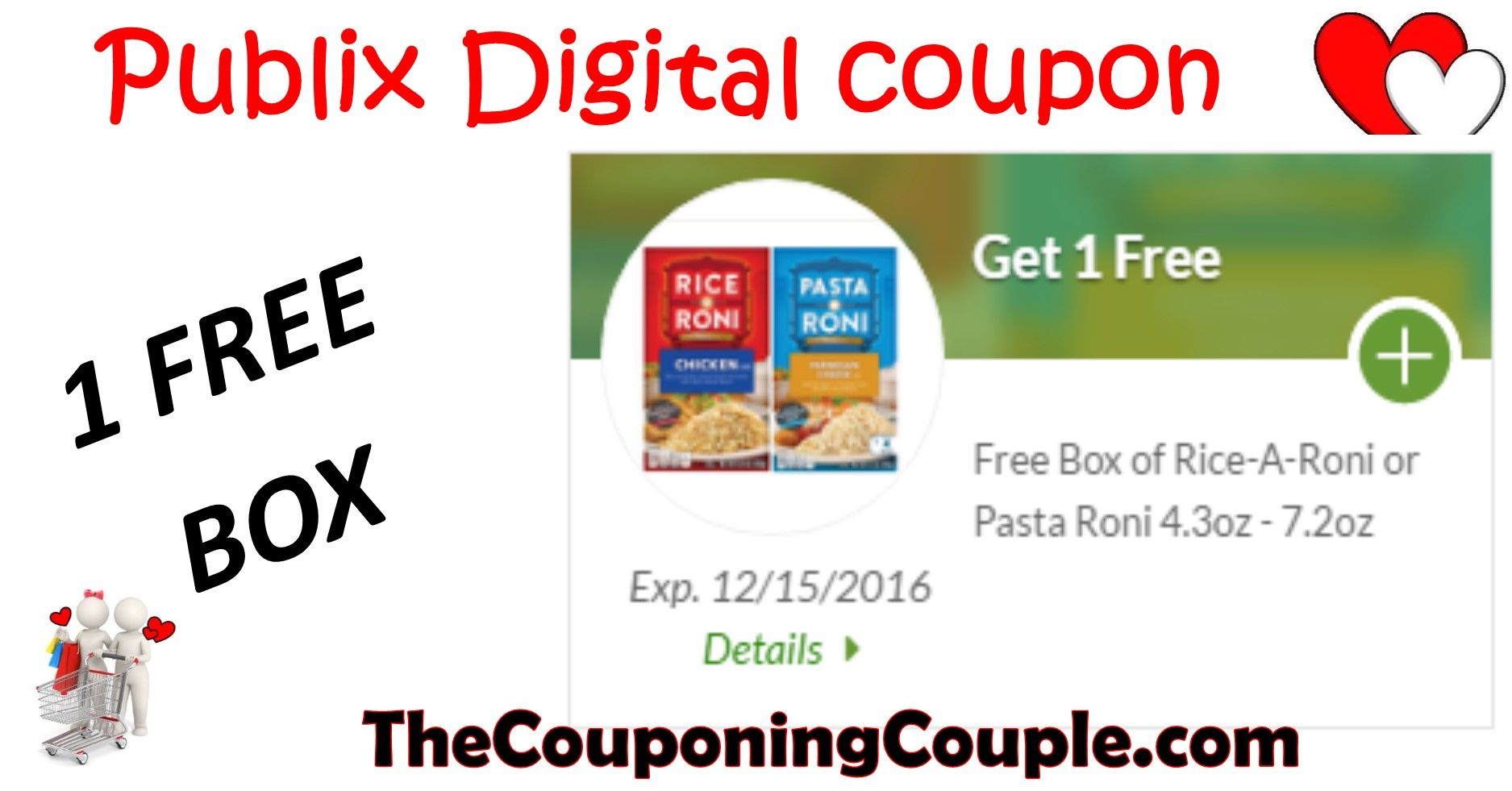 Free Rice A Roni Or Pasta Roni At Publix With Freebie Digital Coupon Pasta Roni Free Rice Digital Coupons