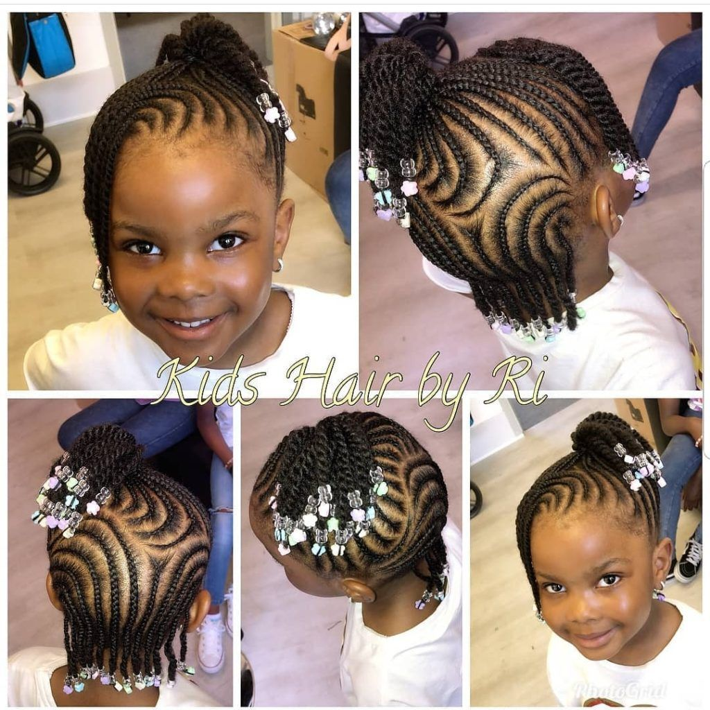 Braided Hairstyles For Kids 43 Hairstyles For Black Girls Click042 In 2020 Girls Braided Hairstyles Kids Kids Braided Hairstyles Little Black Girls Braids