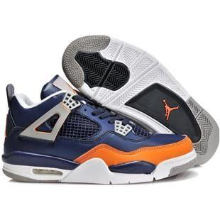 navy blue and orange jordans