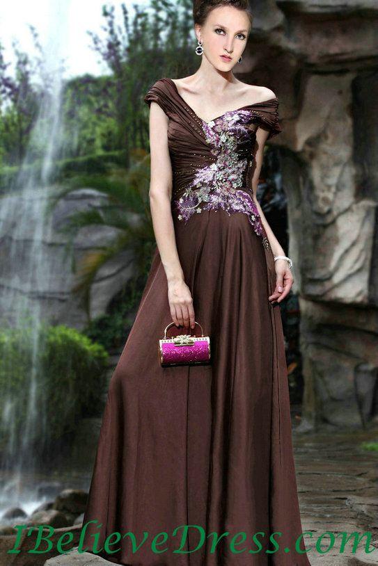 Satin Modest Women Elegant Evening Prom Gowns Full Length Sales ...