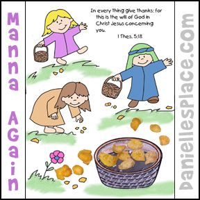 Manna Again Coloring And Activity Sheet From Daniellesplace For Childrens Sunday School