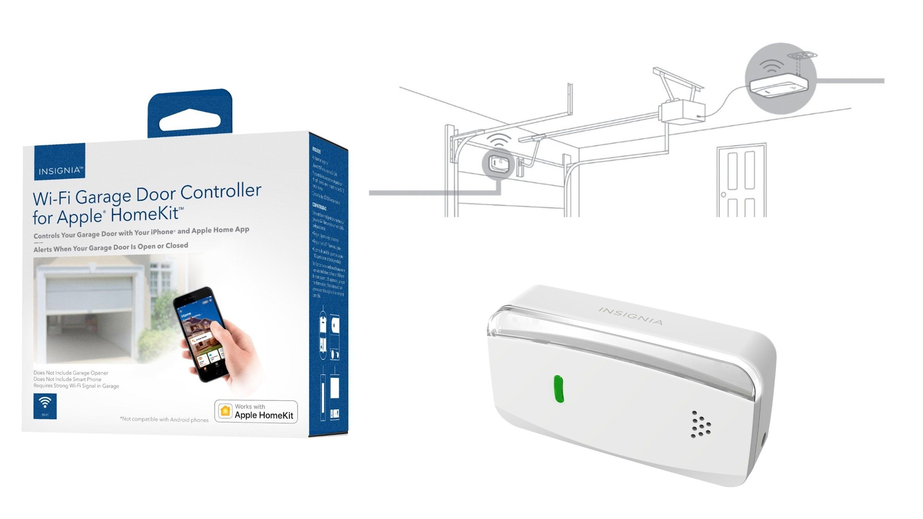 Insignia Introduces New Homekit Enabled Smart Garage Door Controller Currently Priced At 45 Garage Door Controller Kit Homes Garage Doors