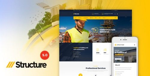 Nulled Structure v5.0.1 – Construction WordPress Theme - https ...