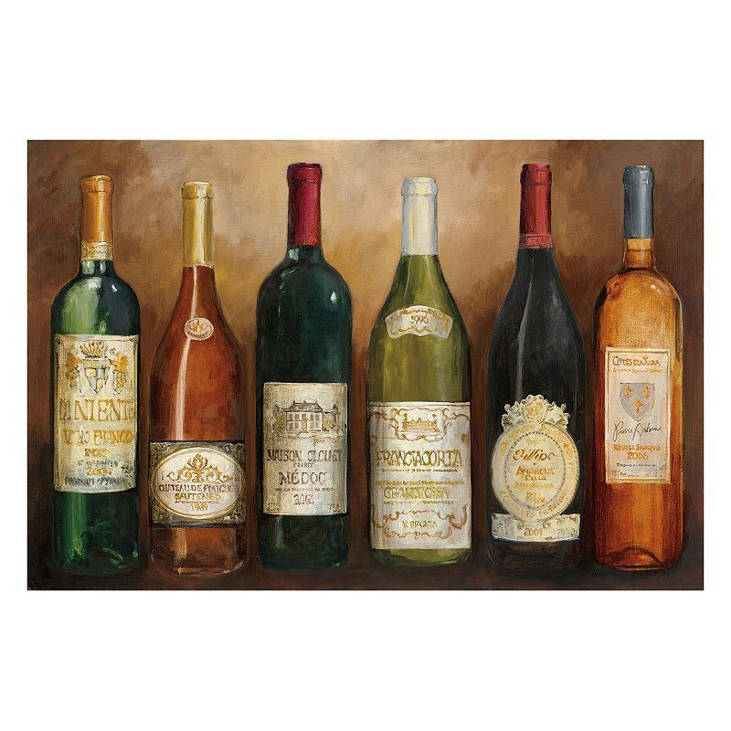 Artissimo And The Winner Is Light Wine Canvas Wall Art, Multicolor