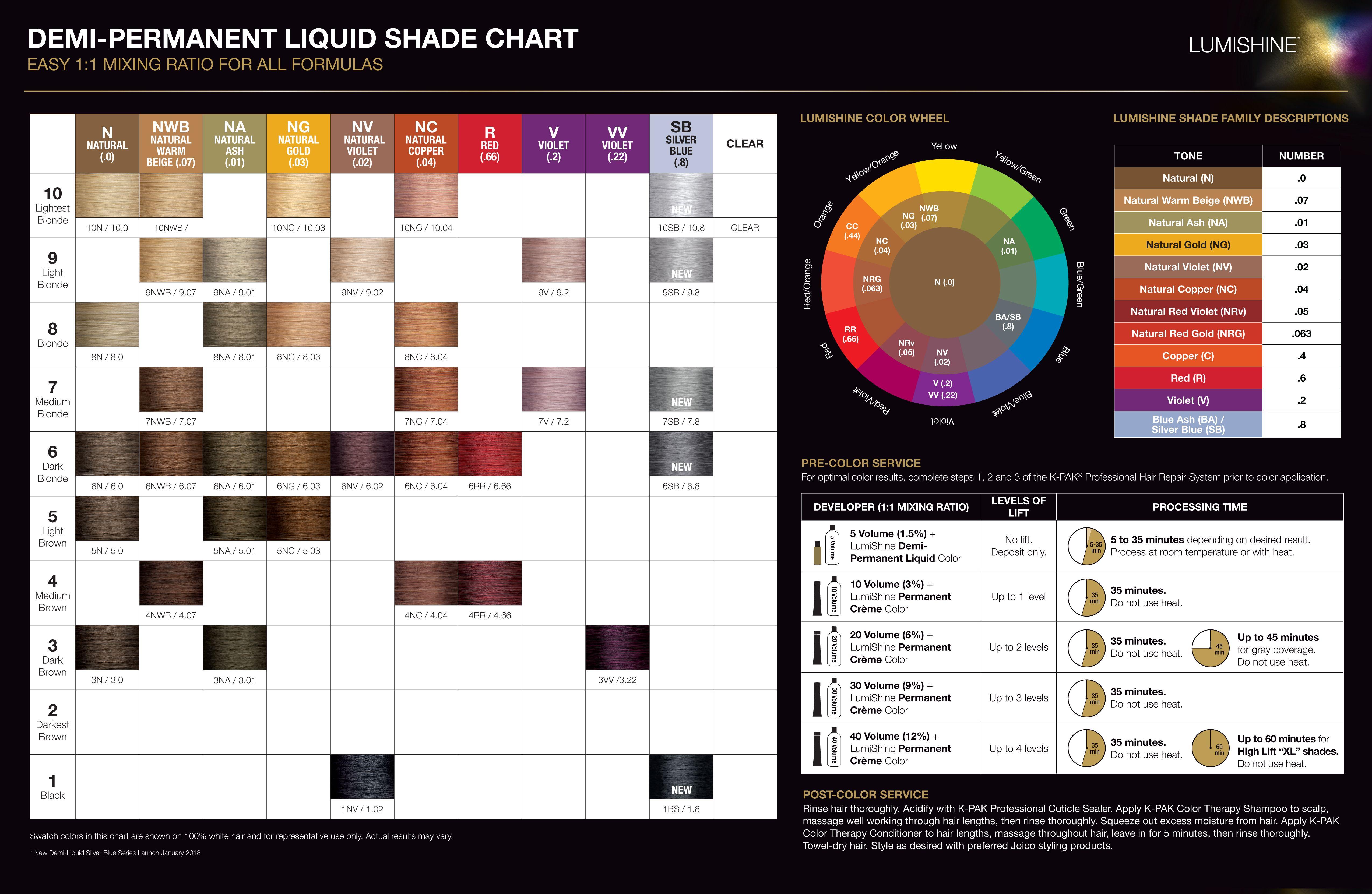 Joico lumishine color chart hairstyle inspirations 2018 joico lumishine demi permanent lquid shade chart 4 jan 2018 nvjuhfo Image collections