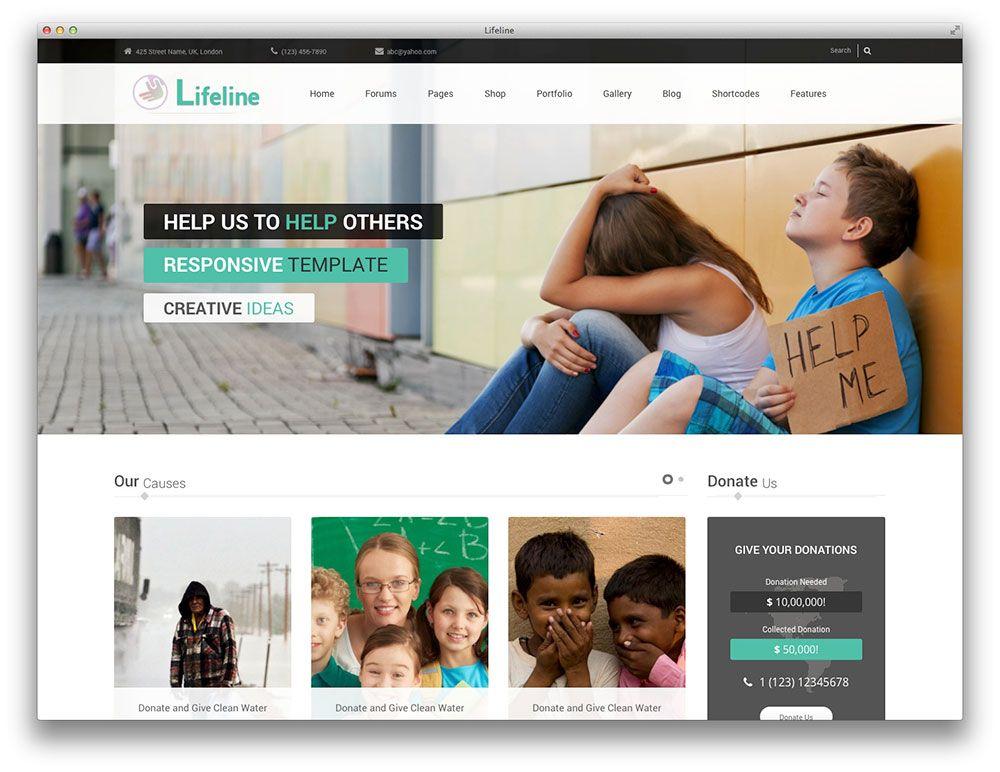 Lifeline Ngo WordPress theme Web ideas Pinterest Wordpress - ngo templates