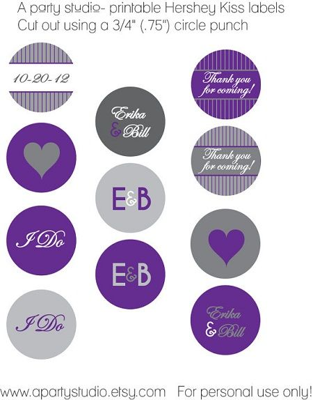 Hershey kiss wedding sticker template hershey kiss for Free hershey kisses labels template