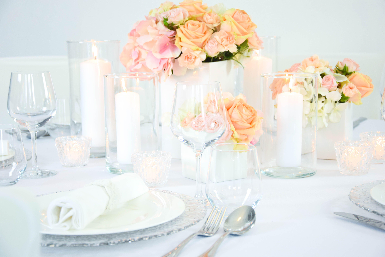 Apricot I Rosa I Hochzeit I Dekoration I Weiß I Glas I ...