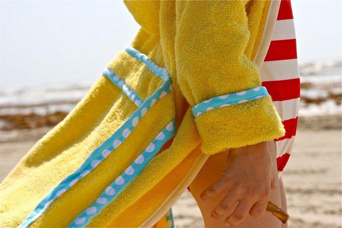 Tutorial: Make kids bath robe from a beach towel