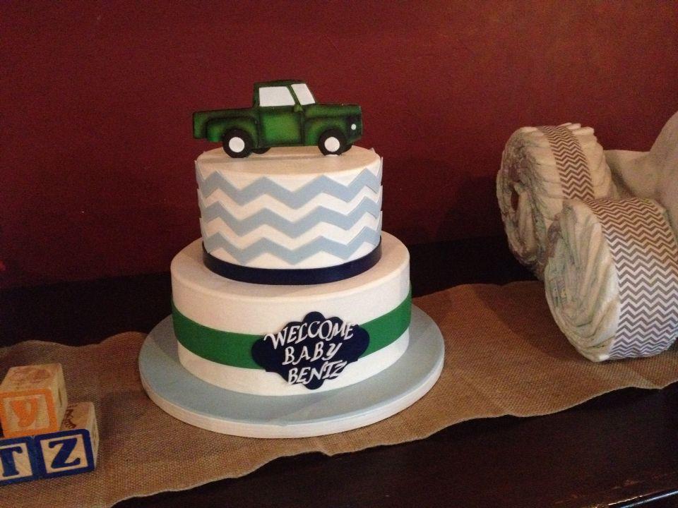 Vintage truck baby shower cake Vintage baby shower Pinterest